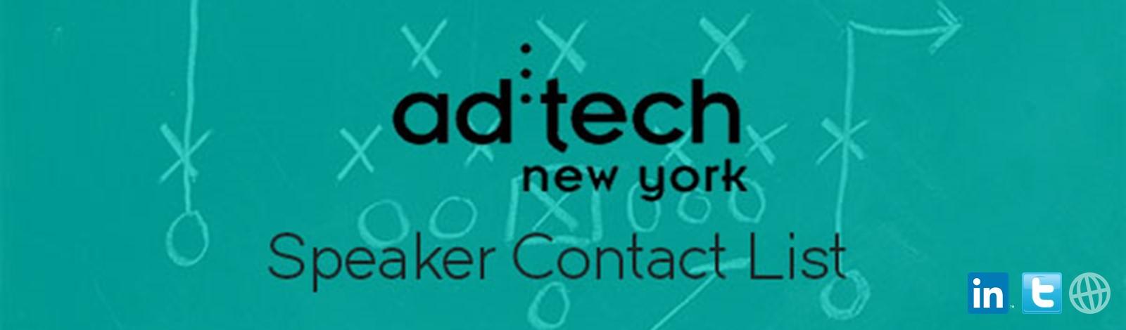 ad:tech New York Speaker Contact List