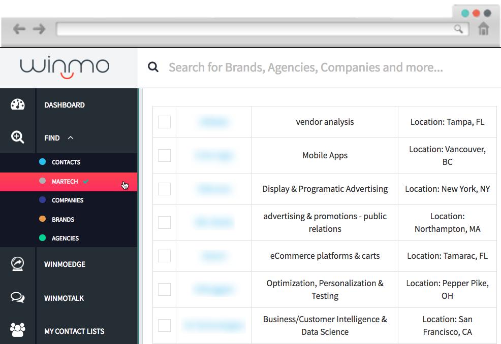 Winmo Martech Database